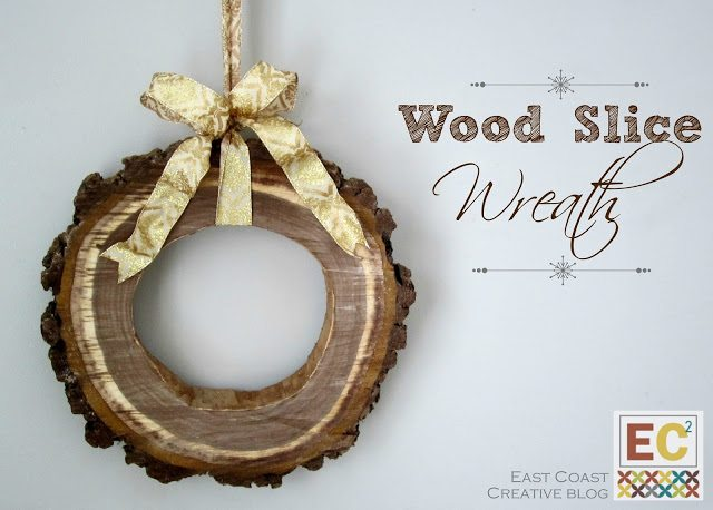 DIY Wood Slice Wreath