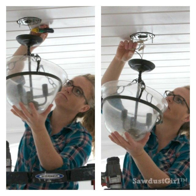 How to change a light fixture