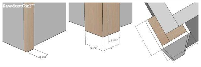 How to build decorative columns dimensions