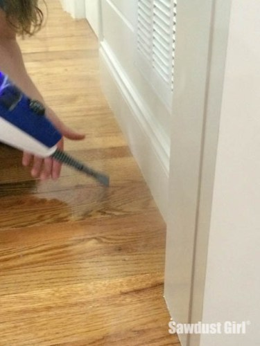 How to steam paint off the floor