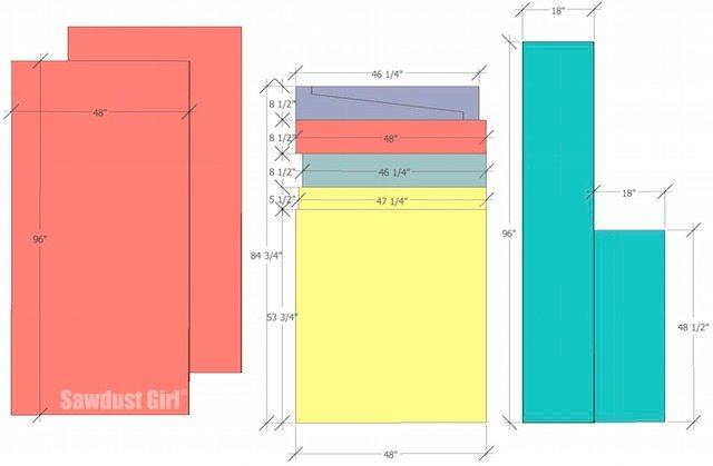 materials - cut list