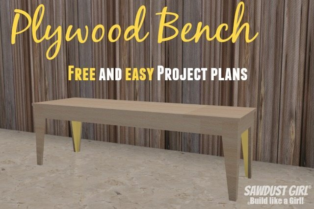 Fancy Pants Bench - free and easy project plans from https://sawdustgirl.com.