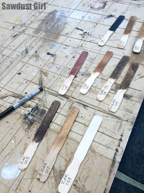 Stain Color fan deck
