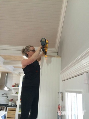 Installing Crown Moulding on Cabinets and Built-ins.