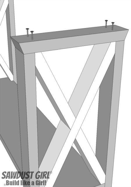 boX leg console table - screw legs
