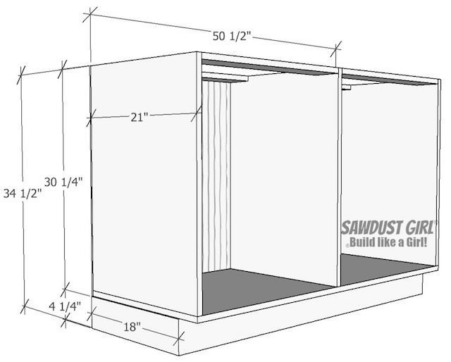 Free and easy plans to build a China Cabinet base from https://sawdustgirl.com/