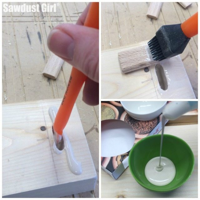 Awesome tools for glue application from @Sawdust Girl®.