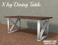 X leg Dining Table Plans - Sawdust Girl