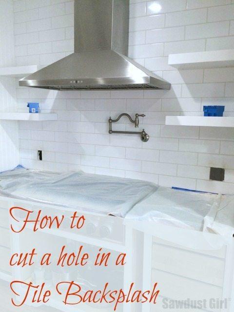 how to cut tile in a backsplash