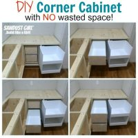 DIY corner cabinet with NO wasted space!