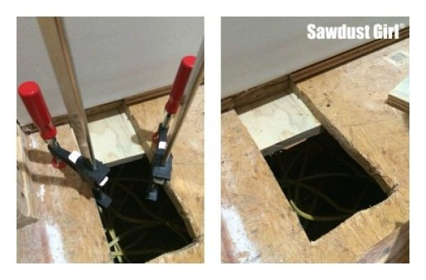 How To Patch Subfloor Sawdust Girl