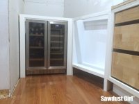 Built-in Wine and Beverage Refrigerator Cabinet - Sawdust ...