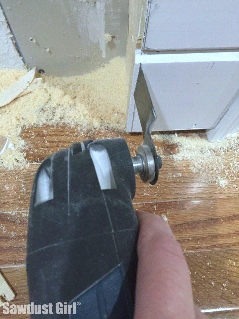 flush trim with oscillating tool