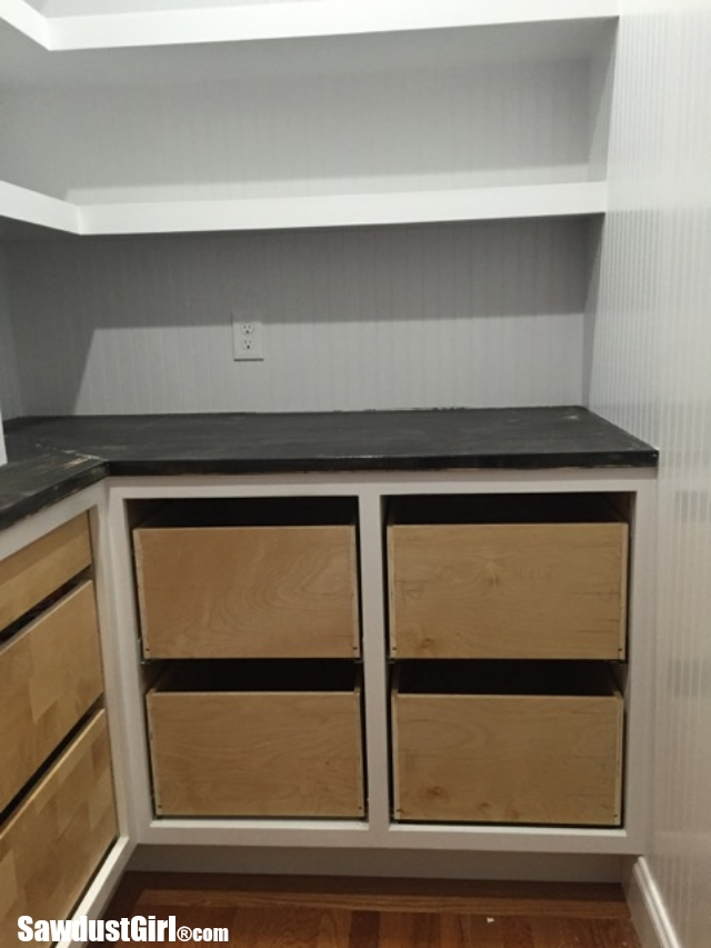 Pantry Drawers Installed