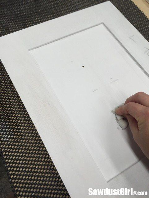 Preparing and painting cabinet doors