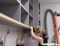 Easy DIY Sliding Doors for Cabinets - Sawdust Girl