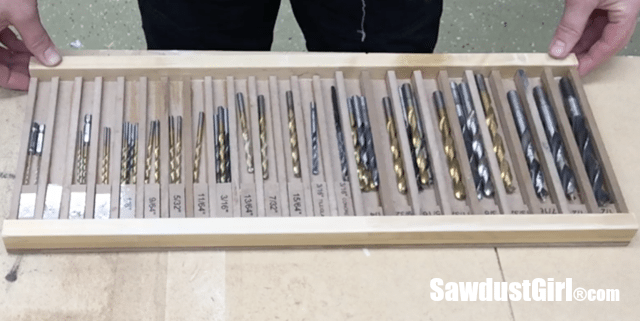 Drill Bit Drawer Storage