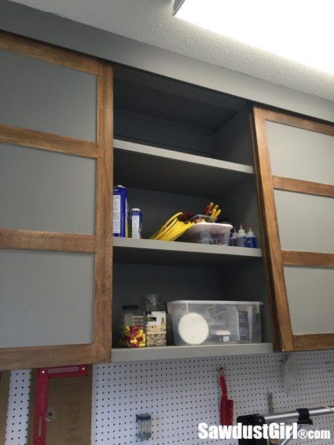 Easy DIY Sliding Doors for Cabinets - Sawdust Girl®