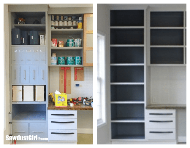 Add vertical storage drawers to existing cabinets for Add drawers to kitchen cabinets
