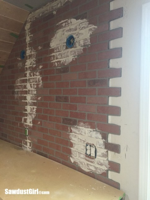 Faux Brick And Plaster Wall Sawdust Girl 174