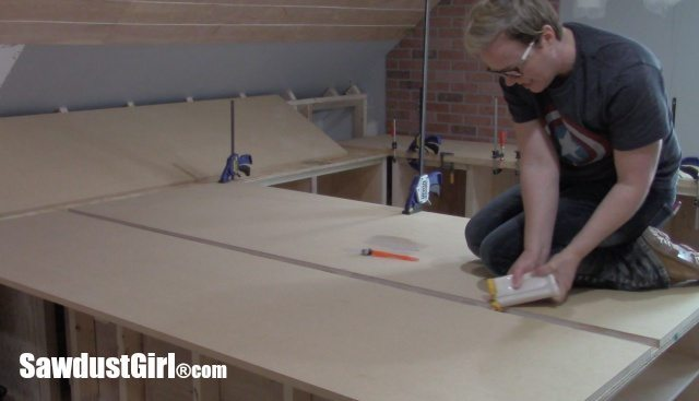 Building Countertops in place