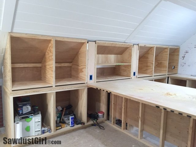 Building Angled Cabinets