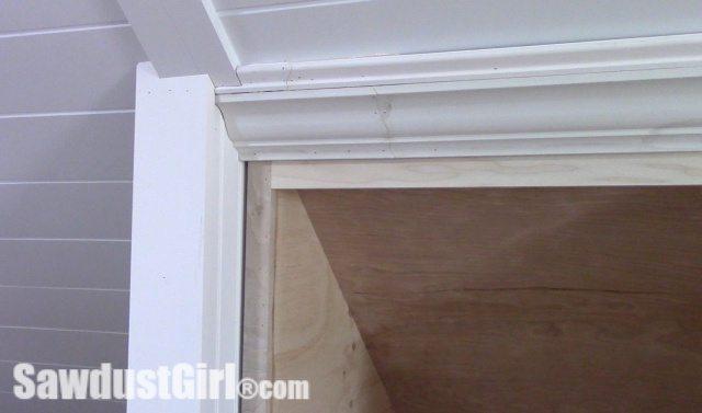 Crown Moulding on Angled Ceilings Caulk