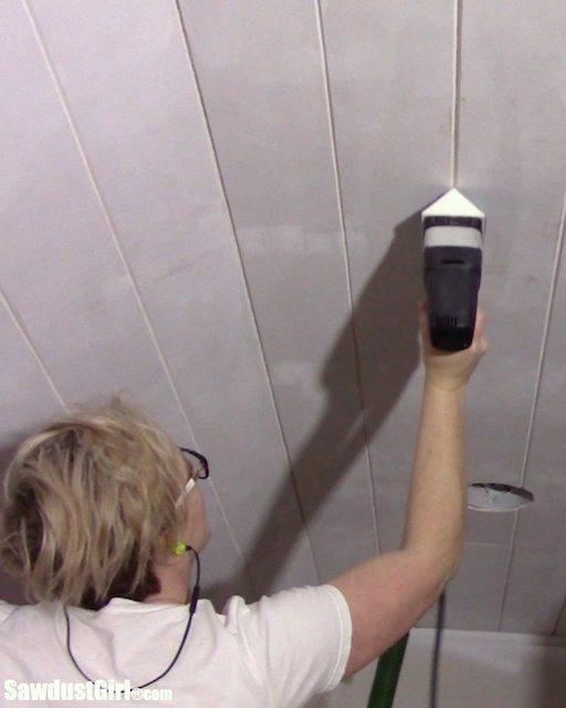 V Groove Plywood Plank Ceiling Sanding Grooves