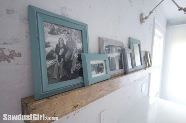 Faux Beam Picture Rail