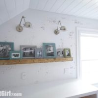 DIY Distressed Wood Picture Rail