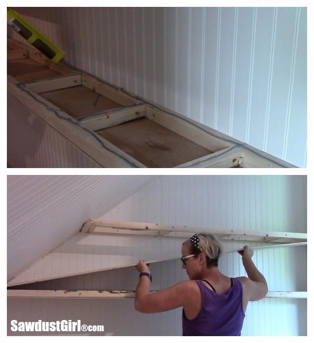 Building decorative shelves
