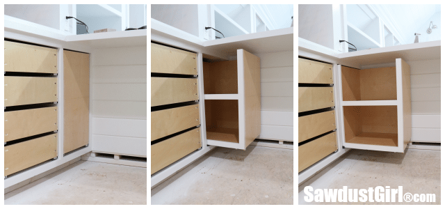 Hard to Reach Pull-out Cabinet Storage