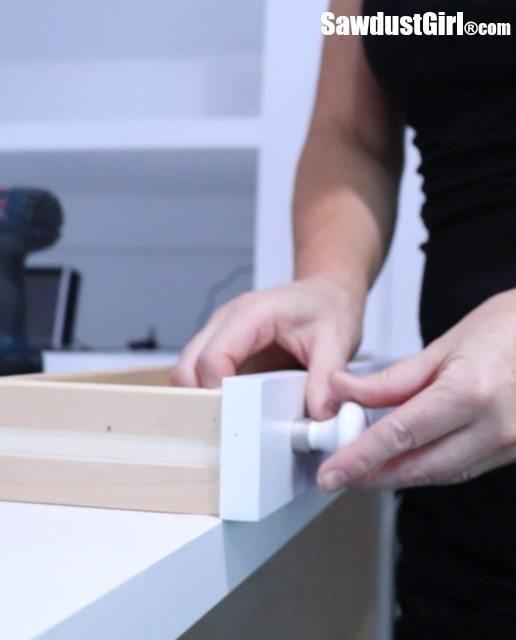 Installing Adjustable Drawer Fronts