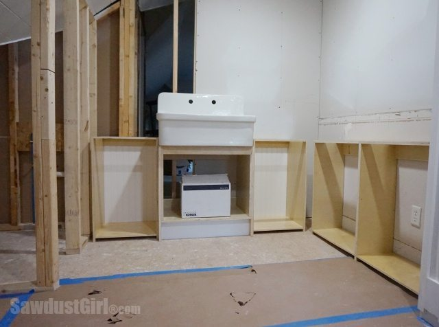 Craft room utility sink placement