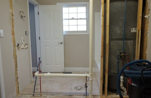 kitchen pantry storage white island jack-and-jill bathroom remodel begins - sawdust girl®