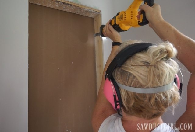 Building a recessed wall cabinet
