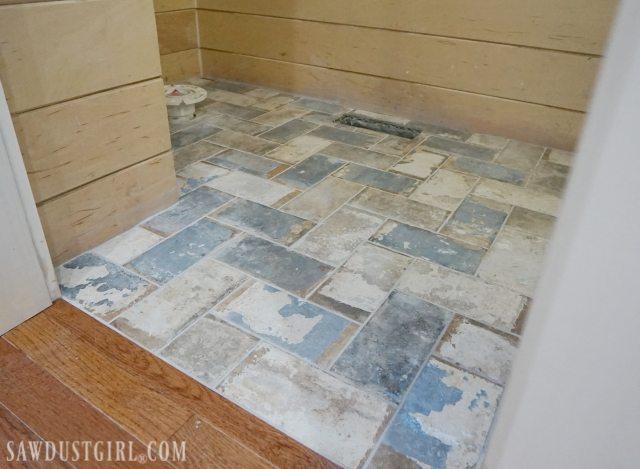 how to install tile flush with hardwood floors sawdust girl. Black Bedroom Furniture Sets. Home Design Ideas