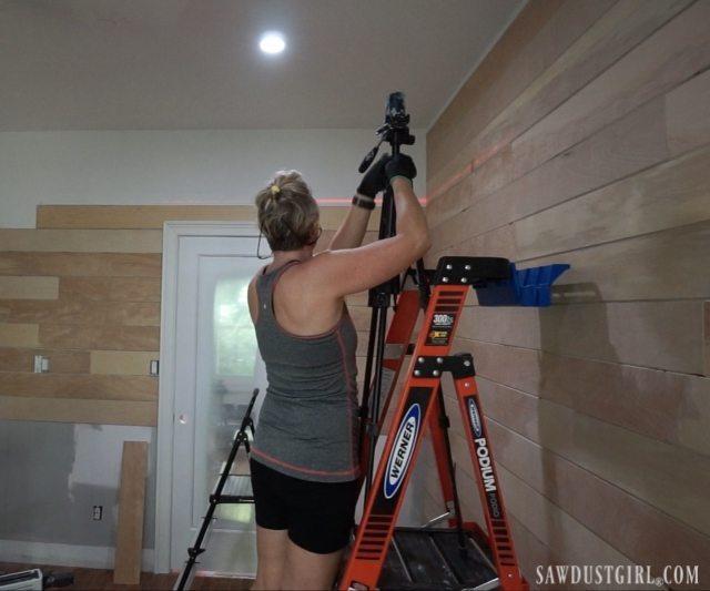 Installing shiplap planks