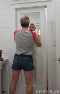 Mirrored Pocket Door - Jack and Jill Bathroom Update ...
