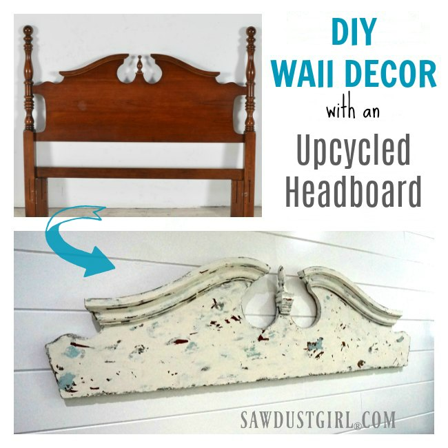 DIY wall decor art idea from an upcycled headboard. This is fun, inexpensive, easy DIY that adds architectural interest to any room.