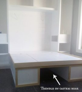 kristy's platform bed with storage everywhere