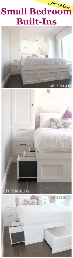 Small Bedroom Built-Ins