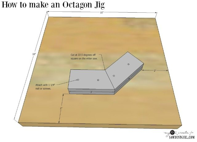 measurements to make an Octagon Jig