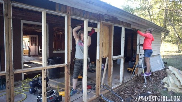 Calderwood Cottage beginning rebuild