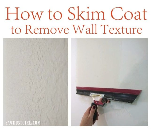 How to skim coat to remove wall texture