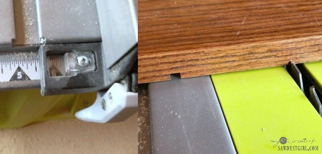 setting fence and lining up blade on a table saw