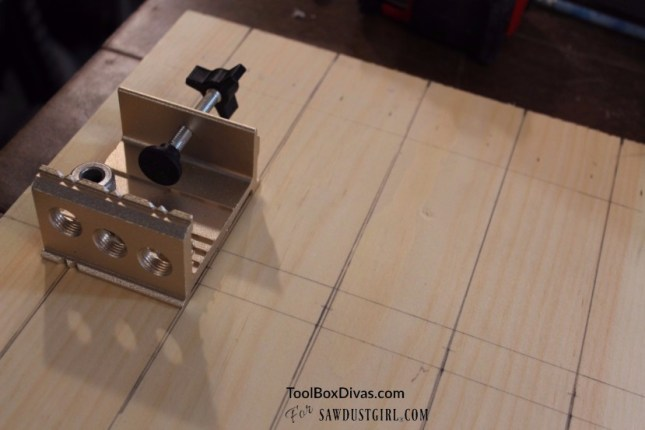 Using a doweling jig
