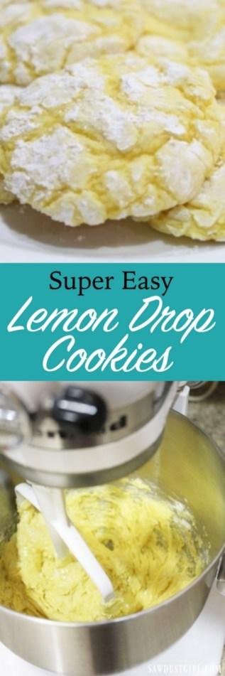 Super easy Lemon Drop Cookies