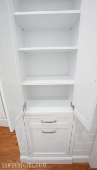 Built-in Linen Cabinet - Sawdust Girl
