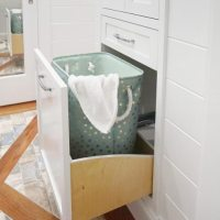 Curved Pull-out Hamper Drawer